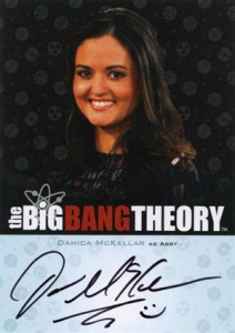 2012 Cryptozoic Big Bang Theory Seasons 3 and 4 Autographs A16 Danica McKellar