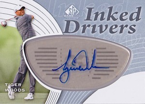 2012 SP Game Used Inked Drivers Tiger Woods