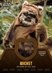 2013 Topps Star Wars Jedi Legacy Relic Ewok Fur
