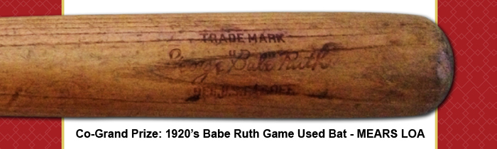 Babe Ruth Game Used Bat