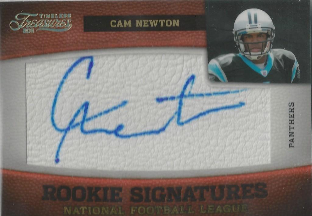 Cam Newton Rookie Autograph