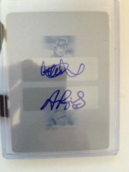 Ichiro/Pujols Autograph