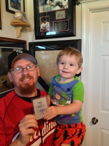Father and Son Collecting Duo Pull Incredible Ichiro/Albert Pujols 1 of 1 Dual Autograph!