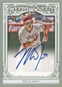 2013 Topps Gypsy Queen Baseball Autographs Mike Trout