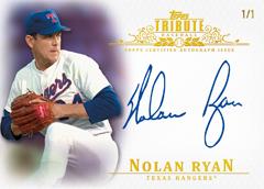 2013 Topps Tribute Baseball Nolan Ryan Autograph