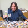 Bob Snyder with Vintage Baseball Cards