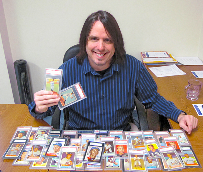 Bob Snyder with Vintage Baseball Cards