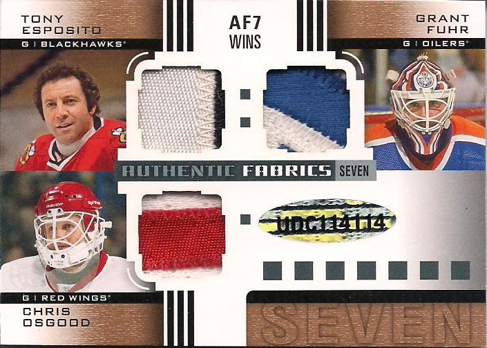 UD SP Game Used Goalie Patches