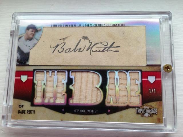 Babe Ruth Triple Threads Cut Auto 1/1