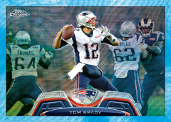 2013 Topps Chrome Brady Blue Wave