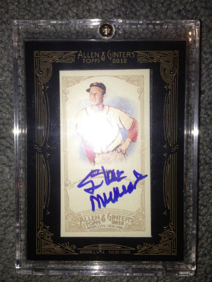 Stan Musial Ginter Auto