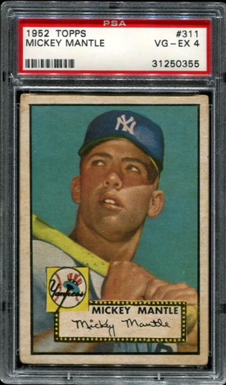 Mickey Mantle PSA 4