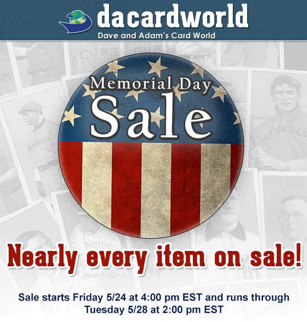 Memorial Day Sale 2013