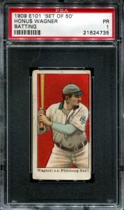 1909 E101 Honus Wagner PSA 1