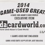 2014 Game-Used Greats Baseball – A dacardworld.com Exclusive!