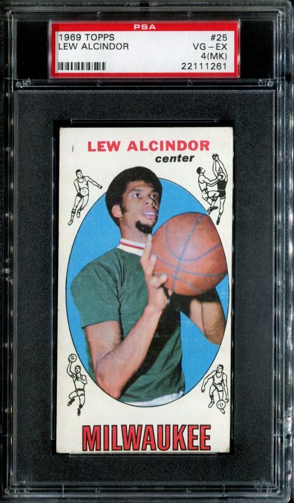 1969/70 Topps Lew Alcindor Rookie PSA 4