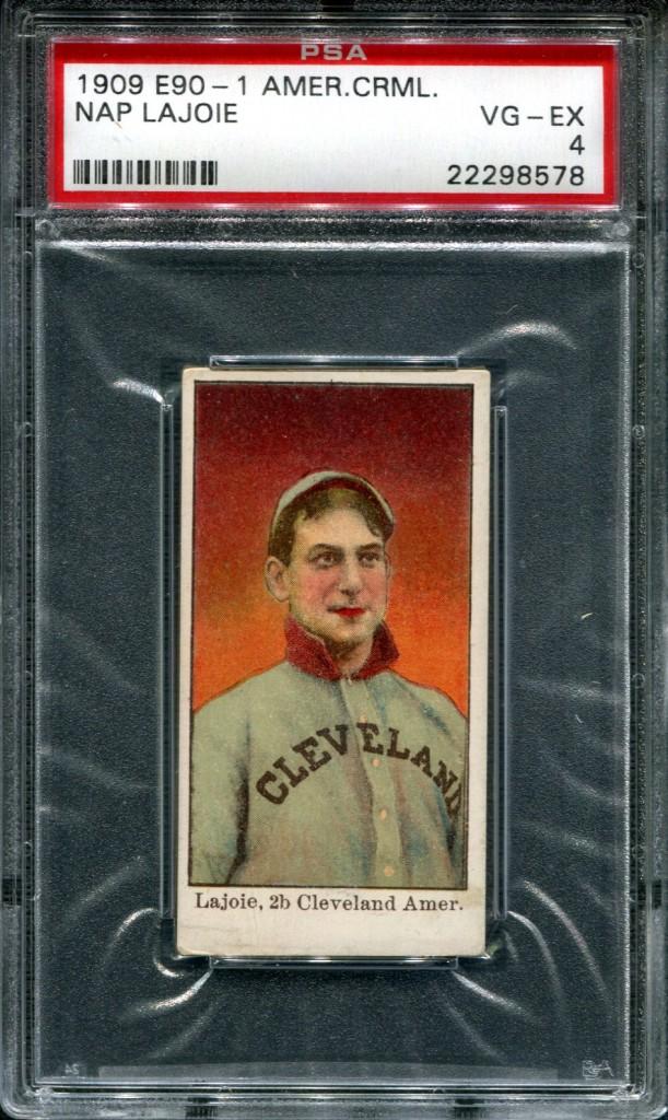 1909 E90-1 American Caramel Napoleon Lajoie PSA 4
