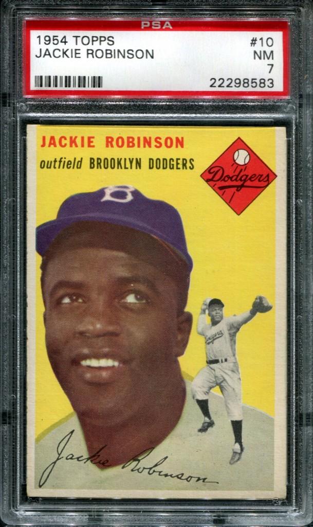 1954 Topps #10 Jackie Robinson PSA 7