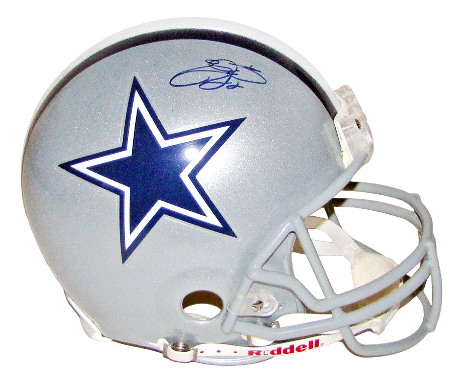 Emmitt Smith Autographed Dallas Cowboys Helmet