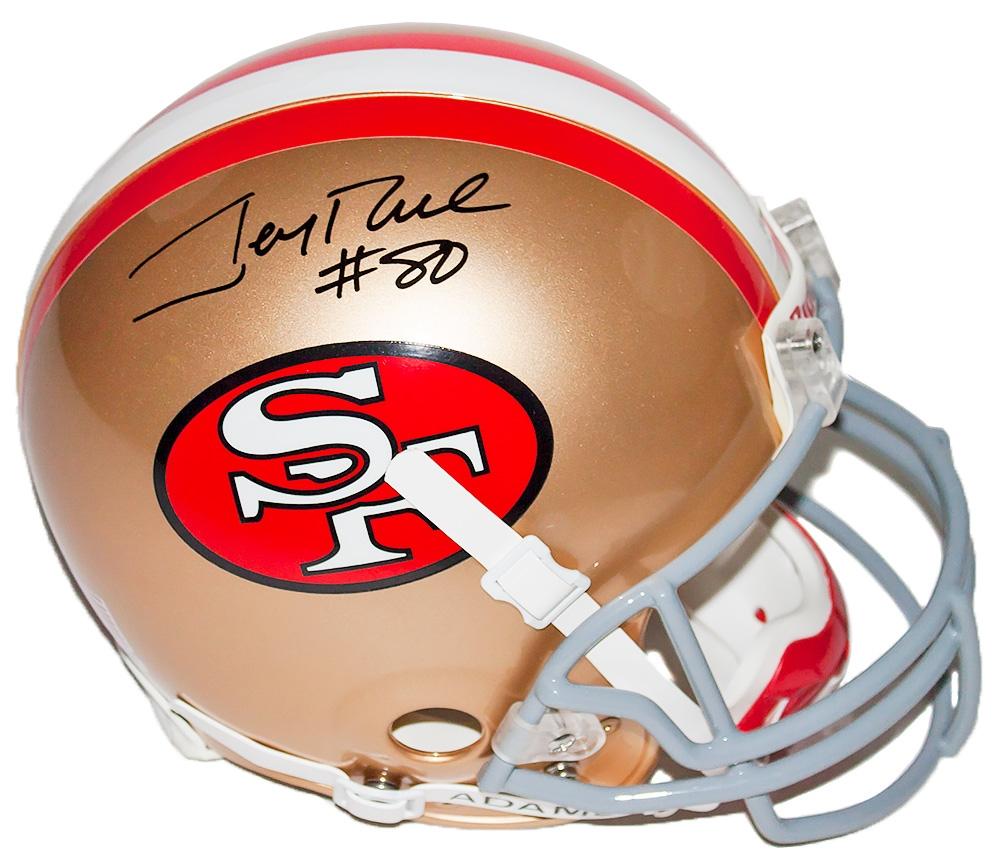 Jerry Rive Autographed 49ers Helmet