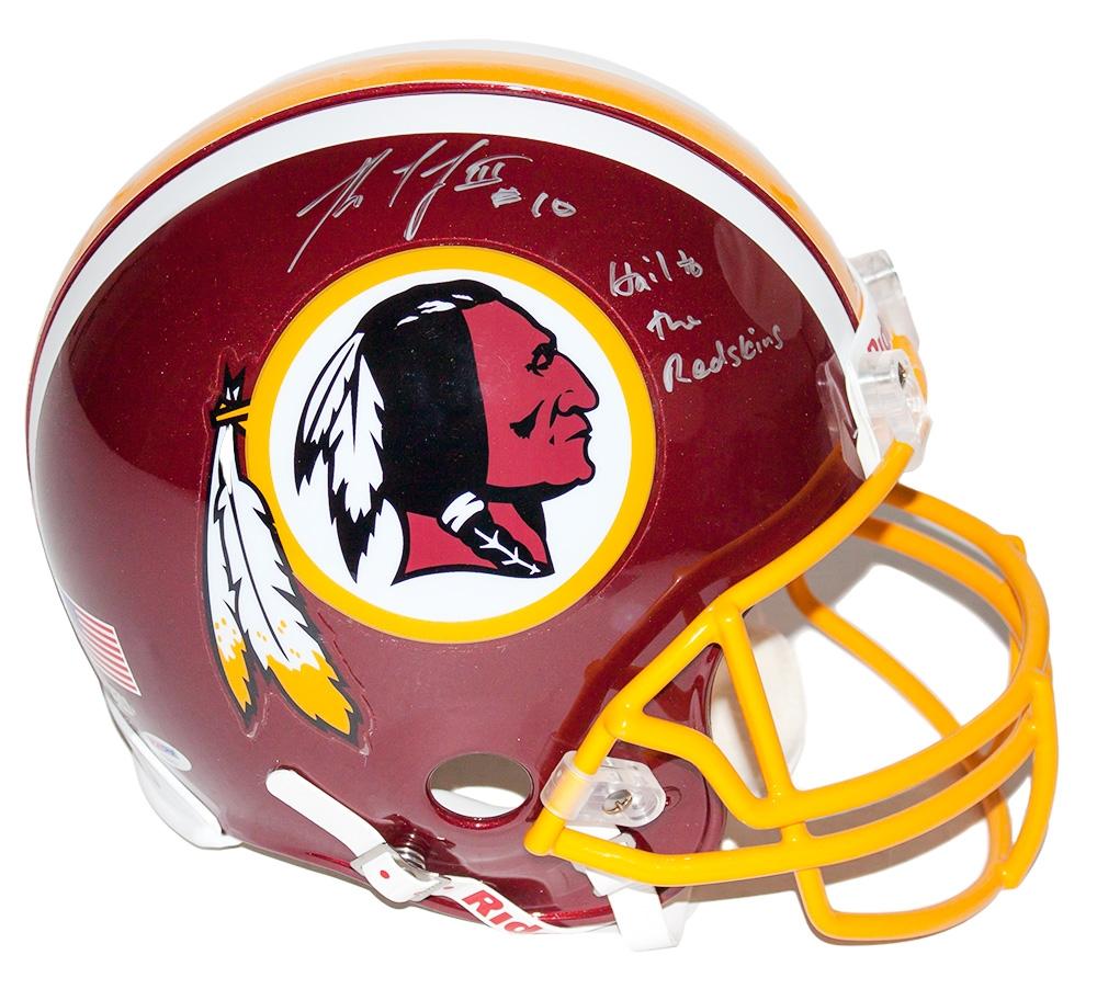 RGIII Autographed Helmet
