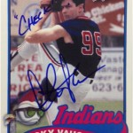 Ricky Vaughn Signs for Topps Archives Baseball
