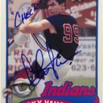 Ricky Vaughn Signs for Topps Archives Baseball