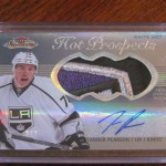 #DACWPulls – Tanner Pearson Fleer Showcase White Hot Auto Jumbo Patch #2/3