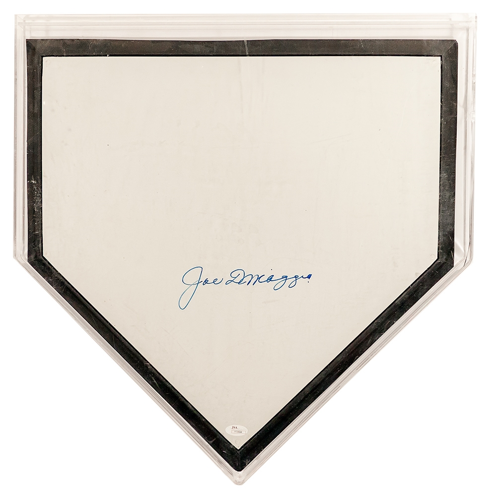 Joe DiMaggio Autographed Home Plate