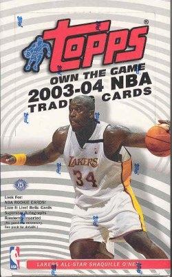 2003/04 Topps Basketball