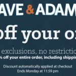 Dave & Adam's launches Columbus Day Sale