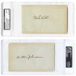 Dave & Adam's purchases rare Babe Ruth/Walter Johnson autograph at the National