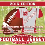2016 Hit Parade Autographed Football Jersey Series 1 preview