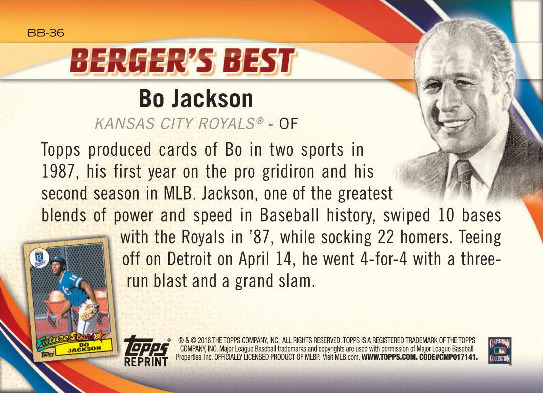 JAcksonBack Berger's Best to look at Topps's history in 2016 Series 1 Baseball Berger's Best to look at Topps's history in 2016 Series 1 Baseball JAcksonBack