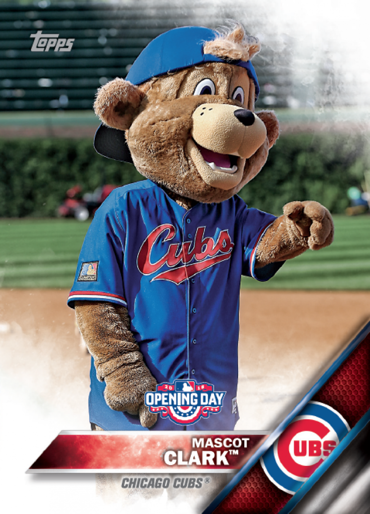 2016 Topps Opening Day Baseball Offers Mascot Card Inserts