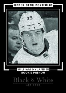 2016-17-Upper-Deck-NHL-Portfolio-Rookie-Redemption-William-Nylander-Black-White-Art-Card