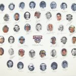 NASCAR 50TH Anniversary Autographed Lithograph