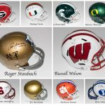 Brand New Hit Parade Release – College Football Full Size Autographed Helmets