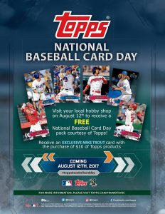 2017 Topps National Baseball Card Day Is This Saturday