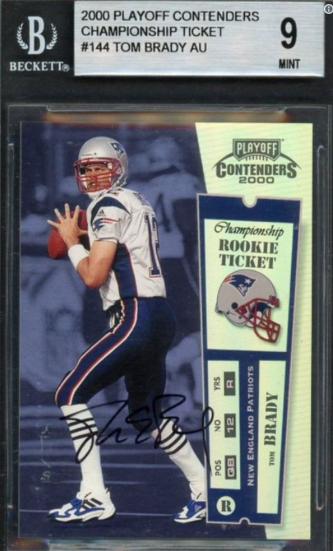 Tom Brady Playoff Contenders Championship Ticket Card Sells
