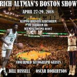 Dave & Adam's set up this weekend in Mass. for Rich Altman's Boston Sports Memorabilia Show