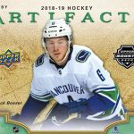 2018/19 Upper Deck Artifacts up for presell, out September!