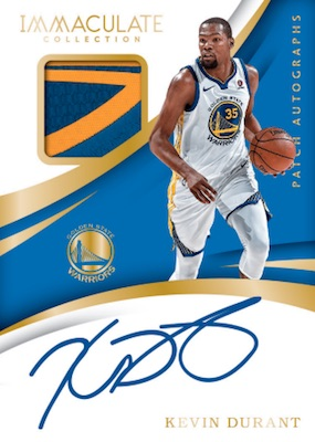 7c17595bcb2 2017-18-Panini-Immaculate-Collection-Basketball-Patch-Autographs-Kevin- Durant