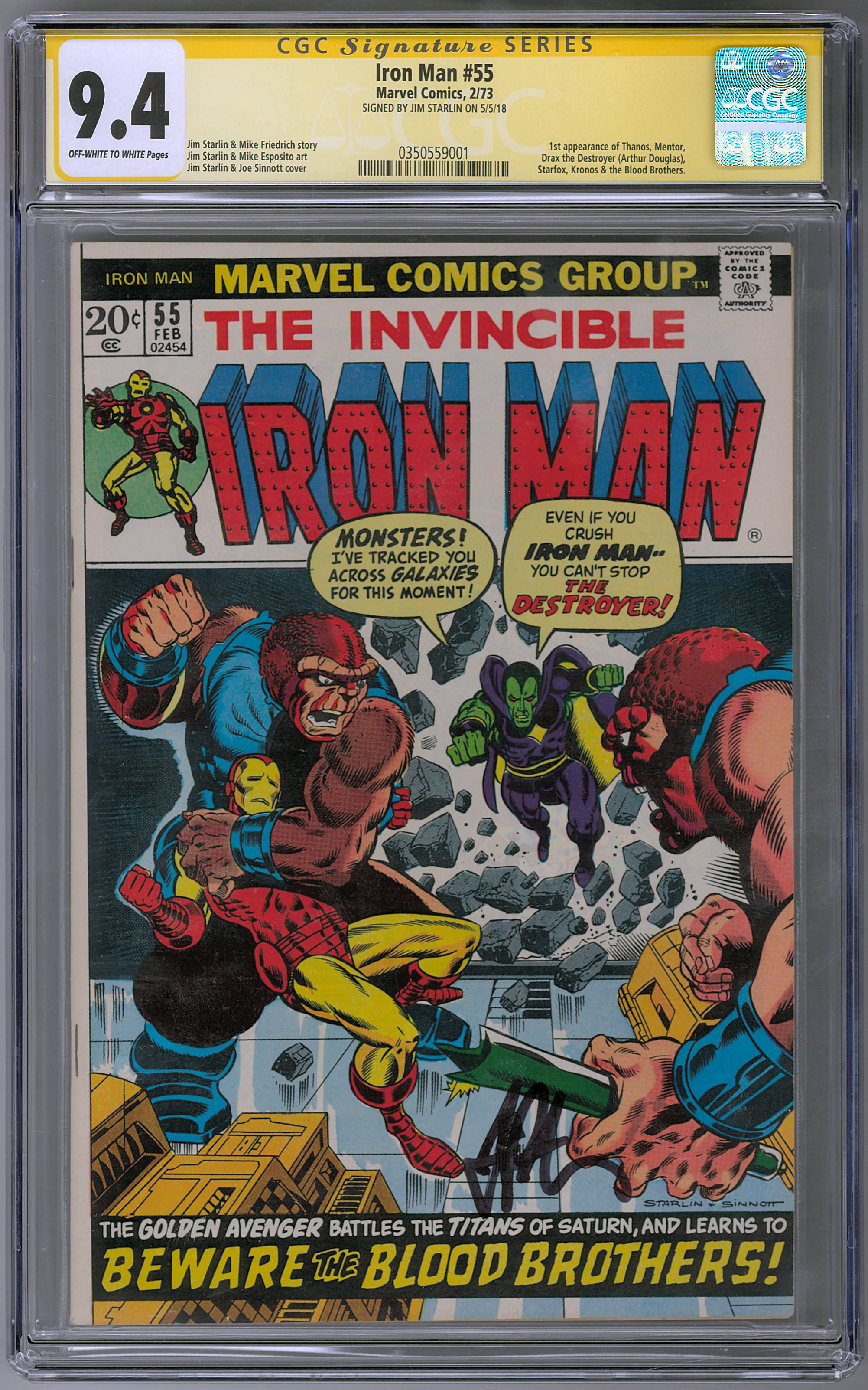 Product Preview: Hit Parade Infinity War Graded Comic