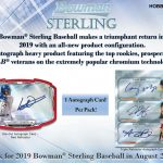 Product Preview: 2019 Bowman Sterling Baseball!