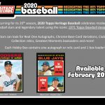 Product Preview: 2020 Topps Heritage Baseball