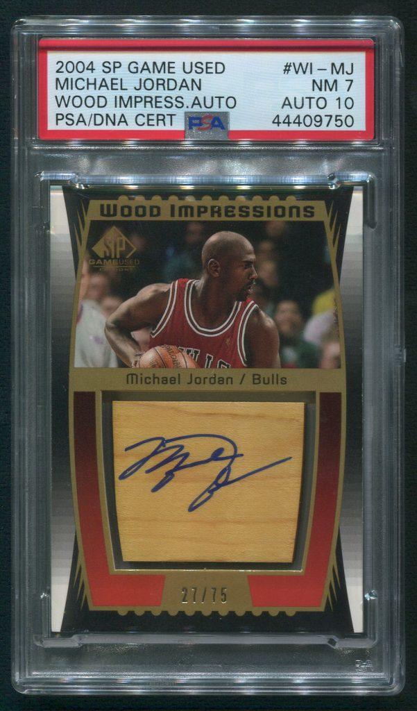 2004 Upper Deck SP Game Used Michael Jordan Autographed Card