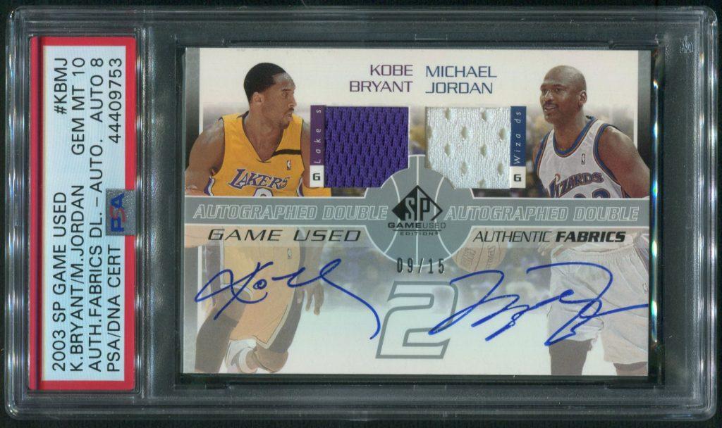2003 Upper Deck SP Game Used Kobe Bryant & Michael Jordan Autographed Card