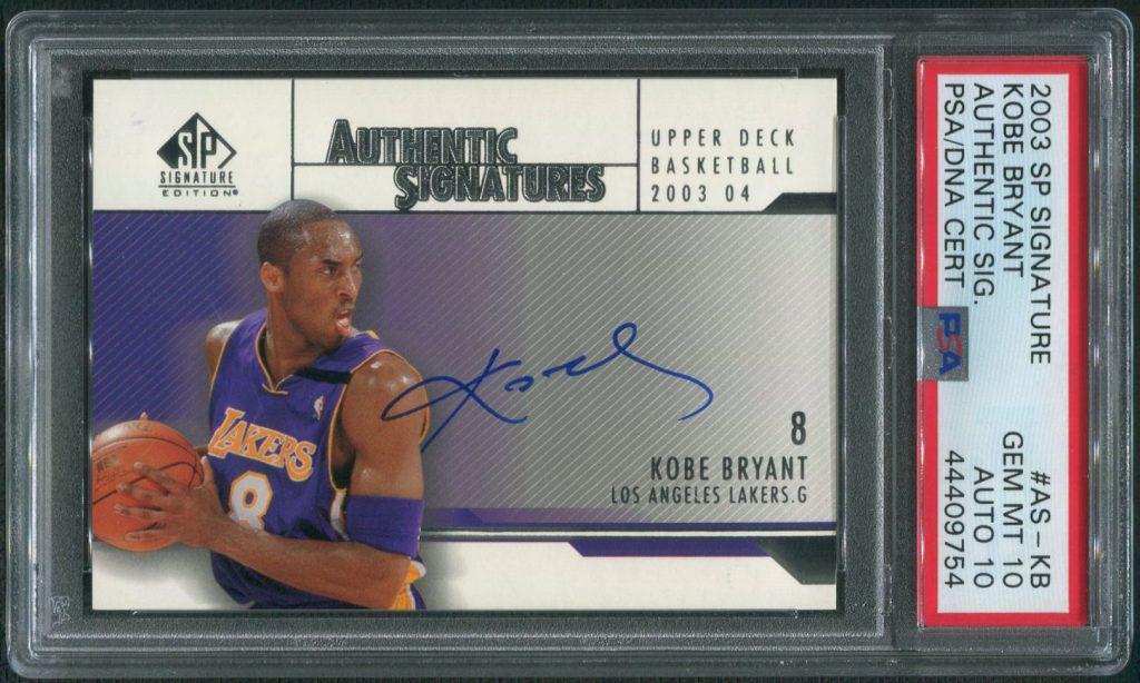 2003 Upper Deck SP Signature Kobe Bryant Autograph Card