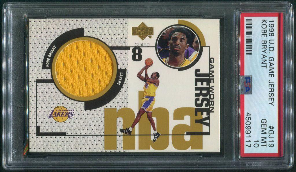 1998 Upper Deck Kobe Bryant Game Jersey Card